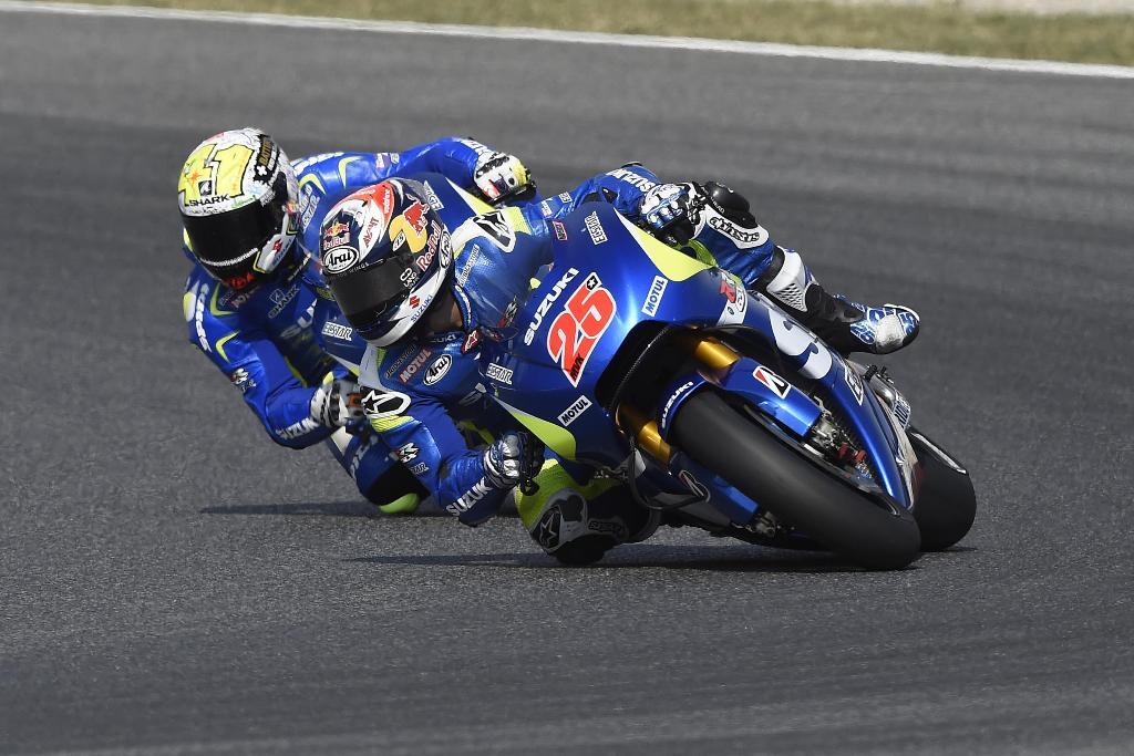 MotoGP Barcellona 2015, Vinales e Espargaro Team Suzuki Ecstar