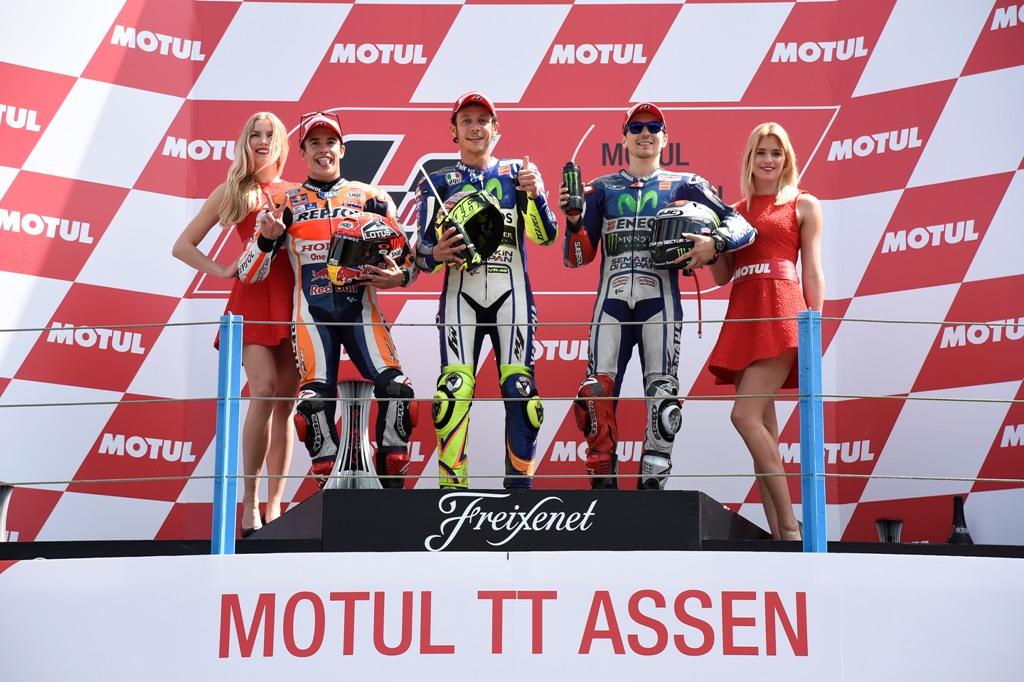 MotoGP Assen 2015, Rossi, Marquez e Lorenzo