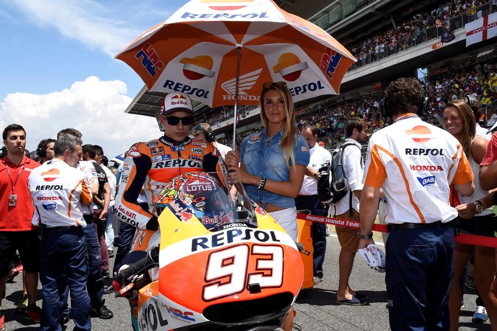 MotoGP Barcellona 2015, Marc Marquez prima della partenza