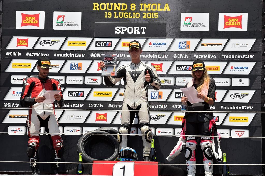 CIV 2015, Sport 4T, KTM il podio con Lumina, Ragazzin e Fontana
