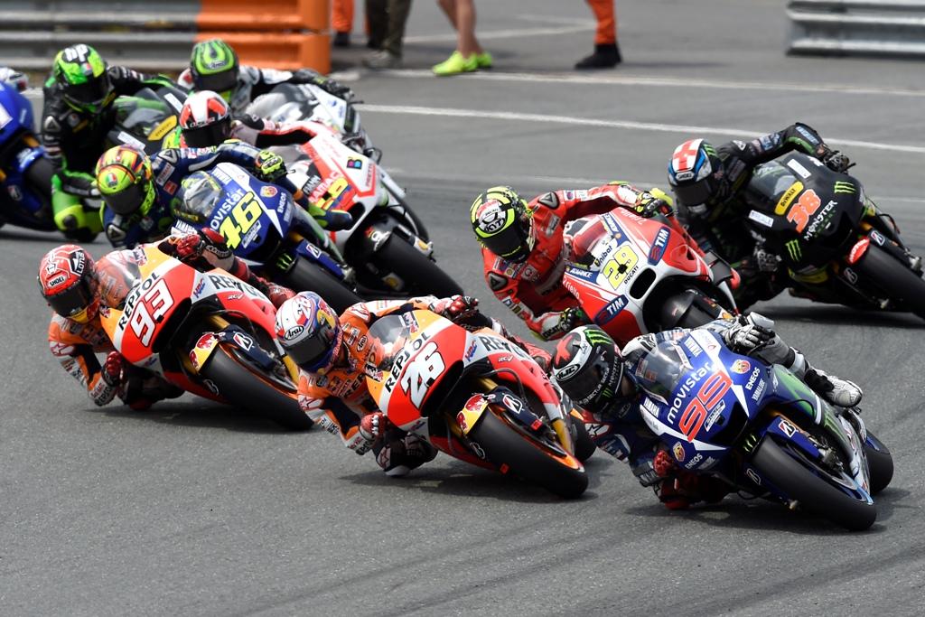 La partenza della MotoGP in Germania