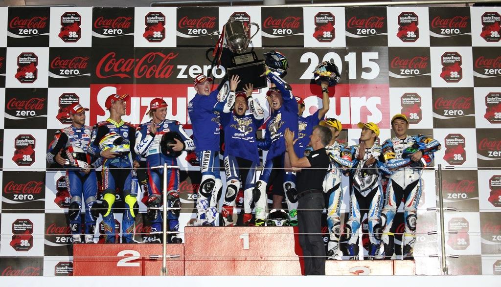 Il podio della 8 Ore di Suzuka 2015