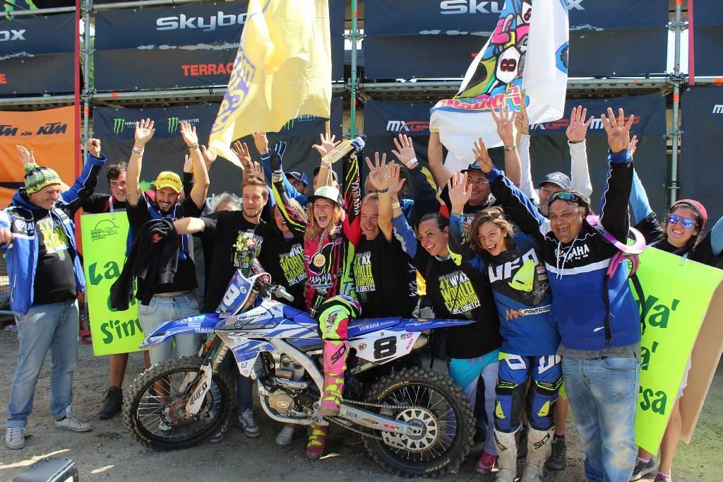 Kiara ed il suo Team Yamaha,