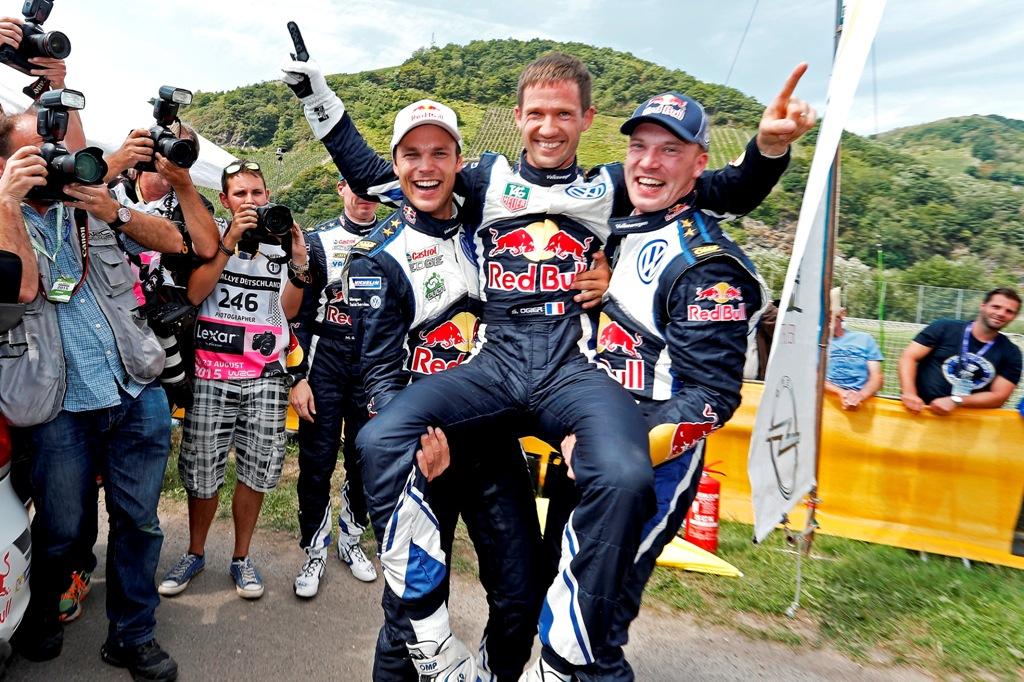 WRC Germania, terzetto VW  sul podio