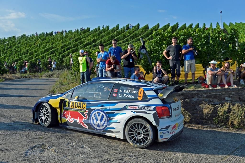 WRC 2015, Germania, un passaggio tra i vigneti di Latvala