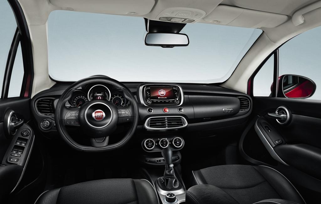 Gli interni della 500X, accoglienza e comfort ma anche ottima insonorizzazione