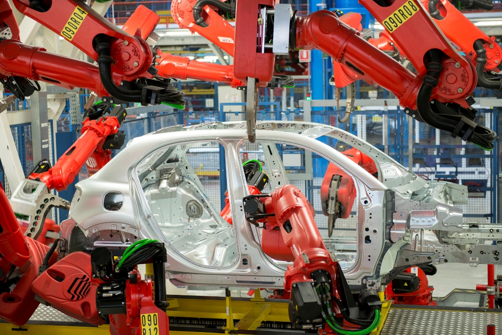 La catena di Melfi, dove viene prodotta la Fiat 500X