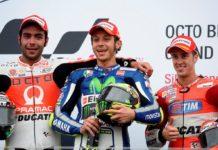 MotoGP, podio Silverstone, Rossi Petrucci e Dovizioso
