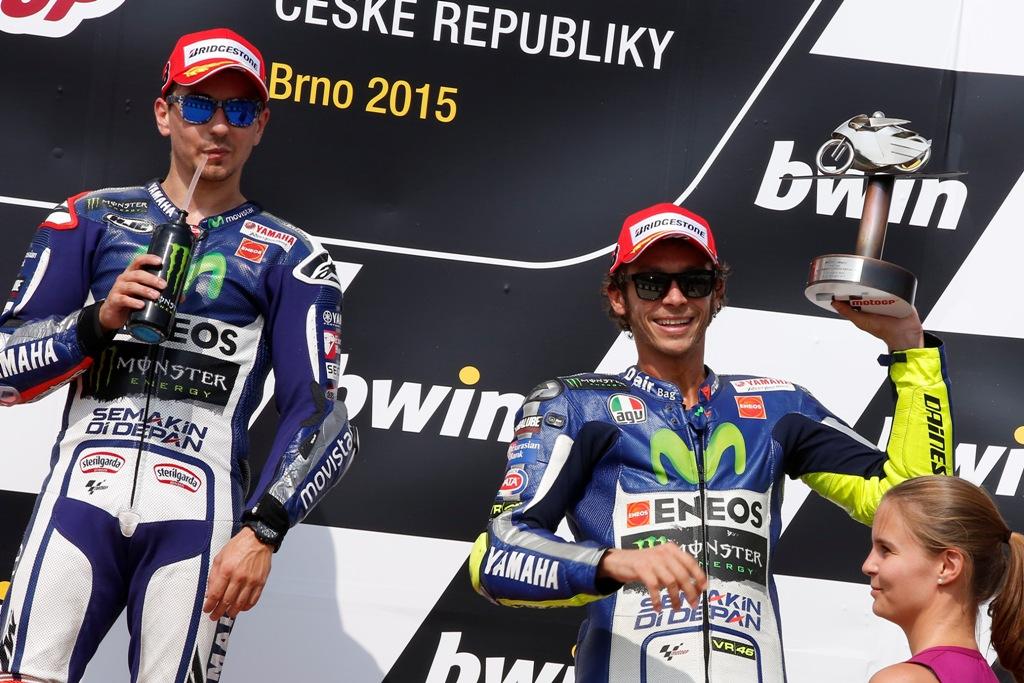 MotoGP 2015, Brno, strapoytere Yamaha sul podio in Repubblica Ceca