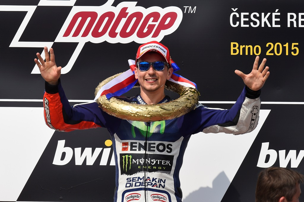 MotoGP 2015, Brno, mega Lorenzo in Repubblica Ceca