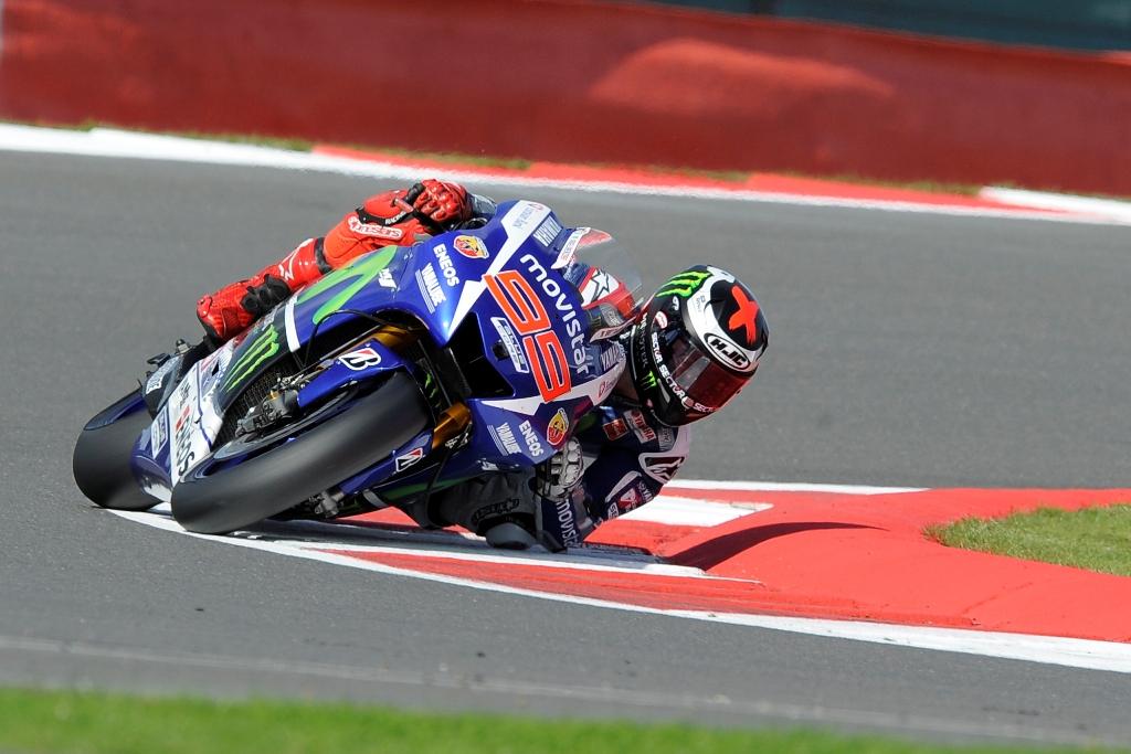Jorge Lorenzo a Silverstone, problemi per lui anche con la visiera appannata
