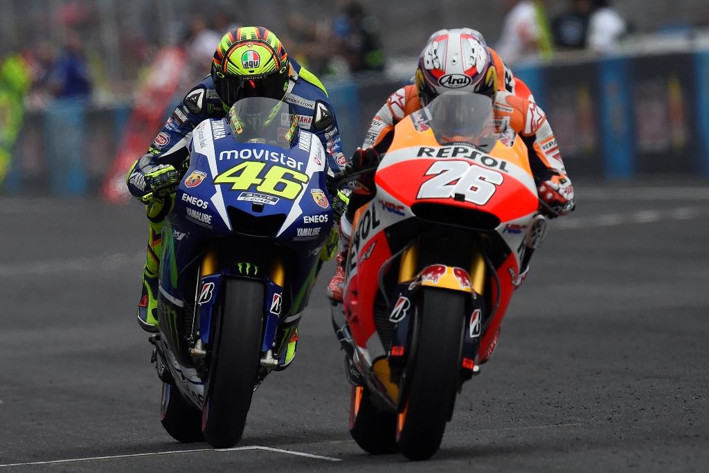 MotoGP 2015, Indy, lotta accesa anche tra Pedrosa e Rossi, ancora leader classifica