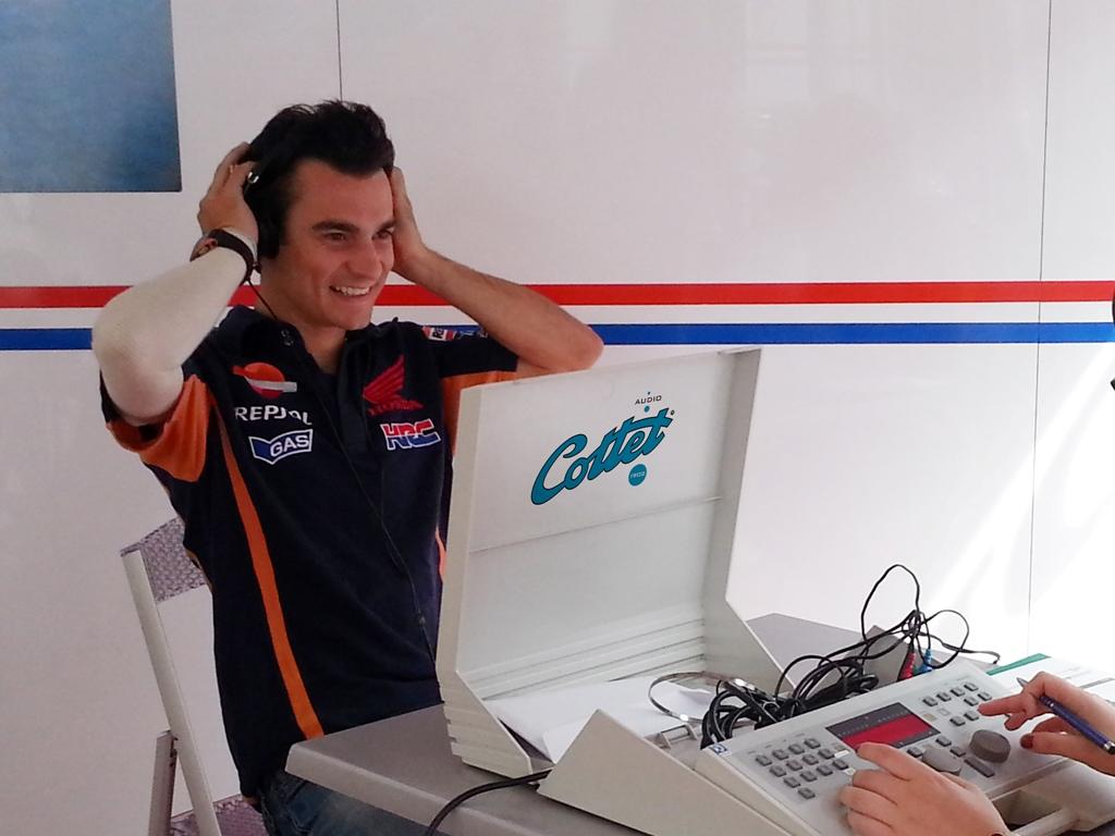 Dani Pedrosa durante il test Cottet