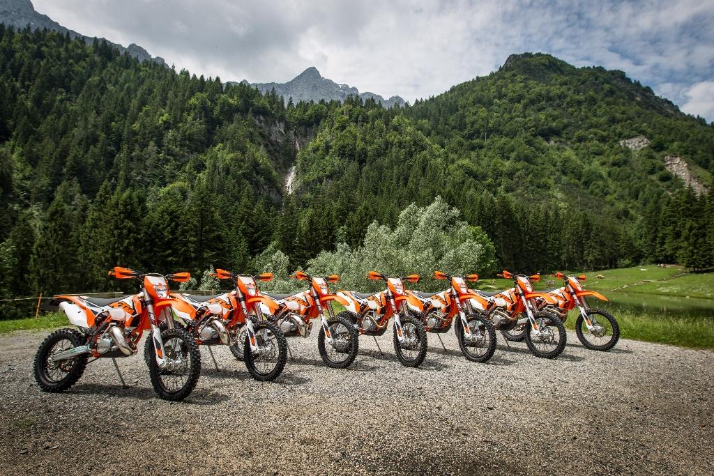 La gamma EXC KTM 2016