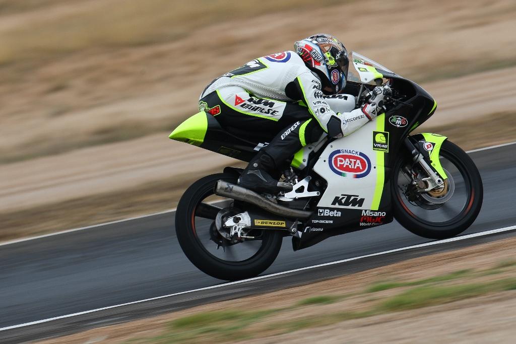 Nicolo Bulega, JR Team VR46 in gara ad Albacete