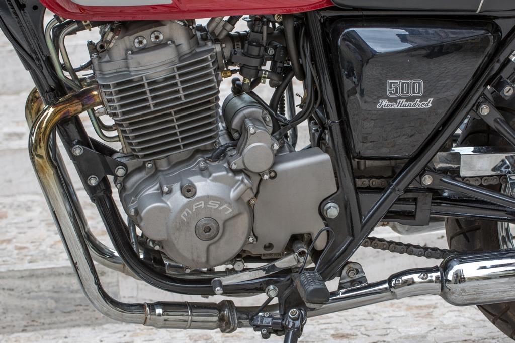 Mash Five Hundred 500, il motore OHC a quattro valvole di derivazione Honda