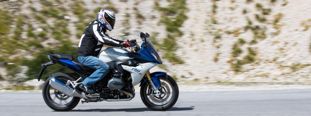 BMW R1200RS, comoda con il rider leggermente poggiato sull'anteriore