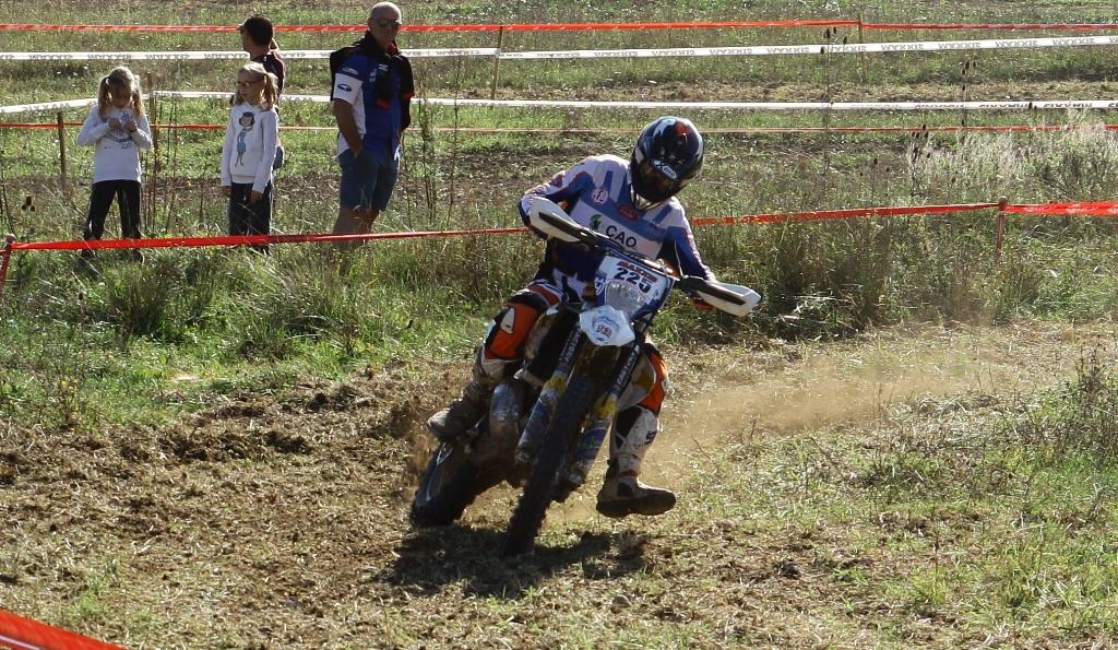 Andrea Giubettini in gara
