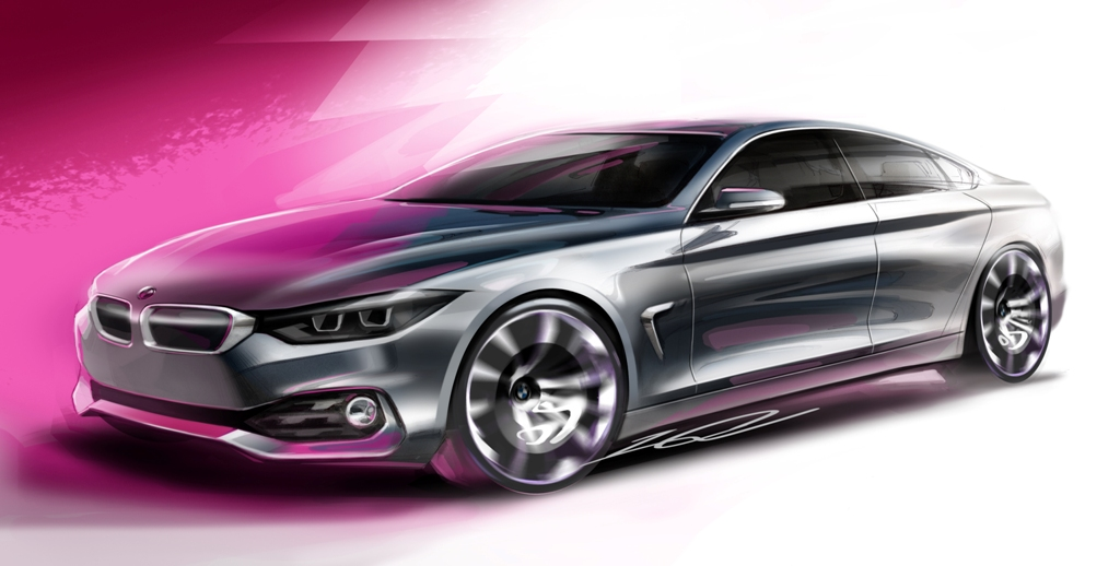 BMW, il disegno della Serie 4