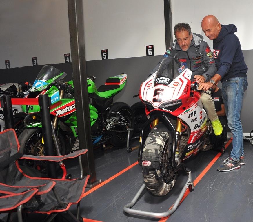 Puzar e Marchetti prima dell'ingresso in pista