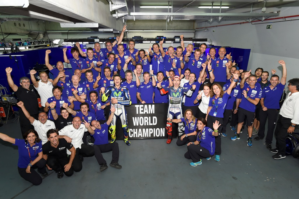 Yamaha ha vinto intanto il titolo Costruttori MotoGP 2015...