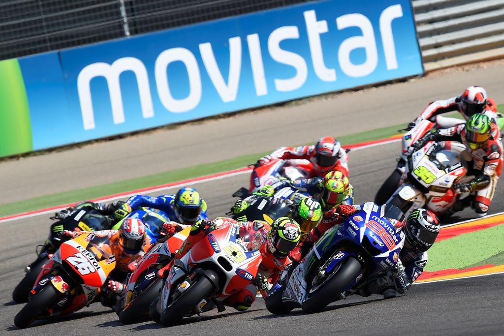 Aragon 2015, la partenza della MotoGP