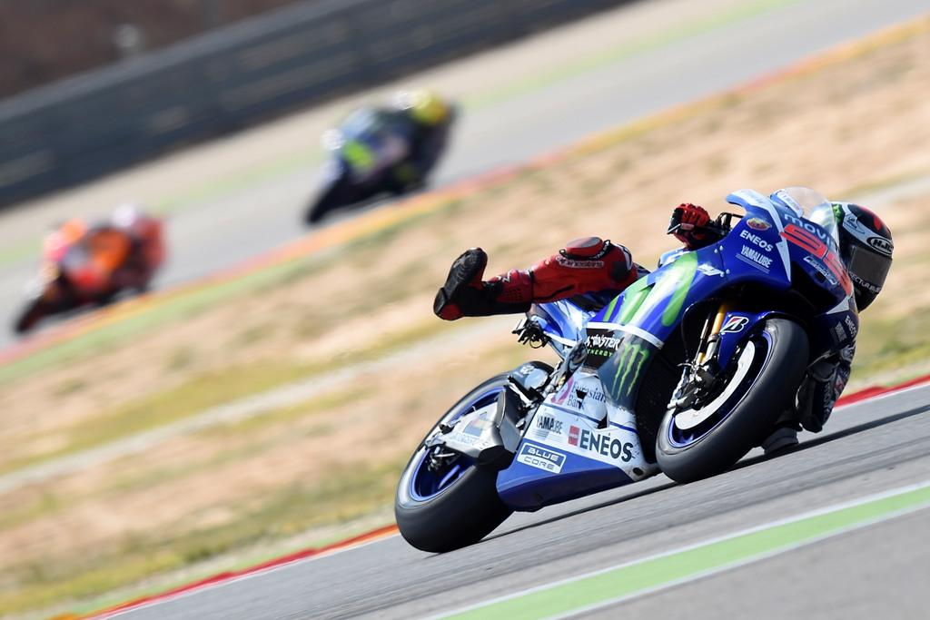 Aragon 2015, MotoGP, Lorenzo a fine gara