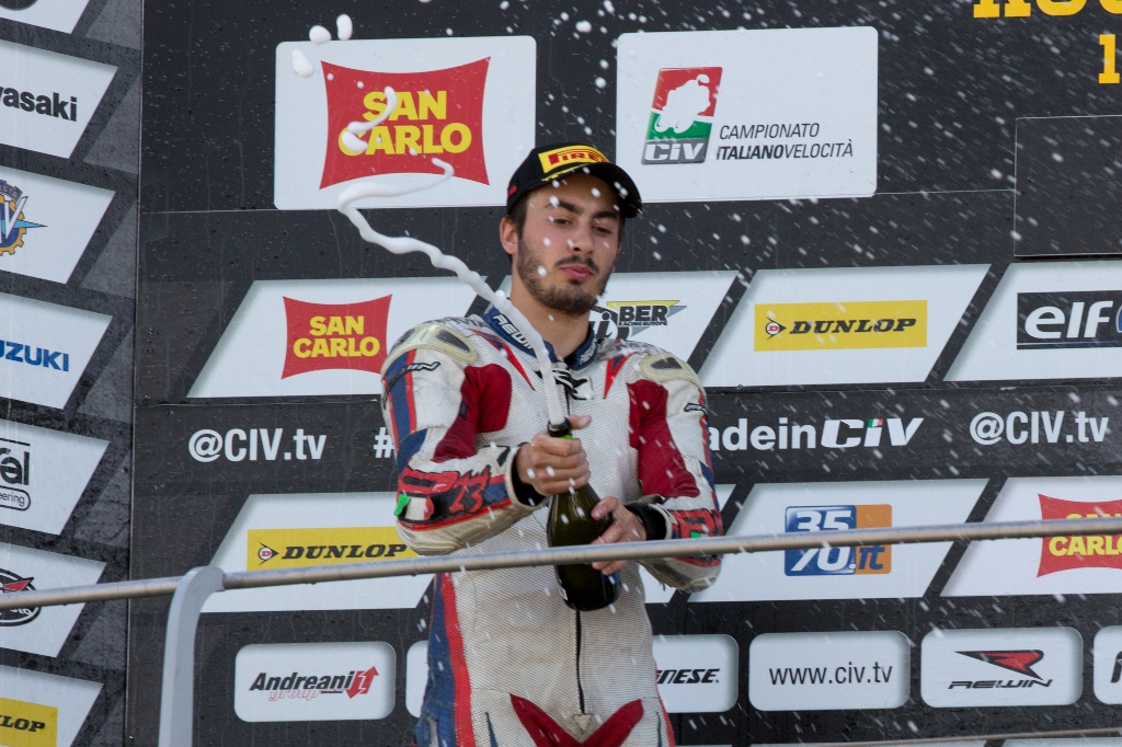 CIV 2015, il secondo posto sul podio del Mugello