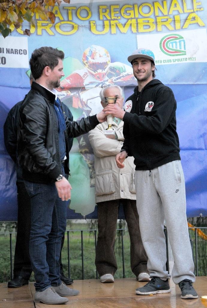 Regionale Enduro Lazio 2015, Andrea Giubettini sul podio