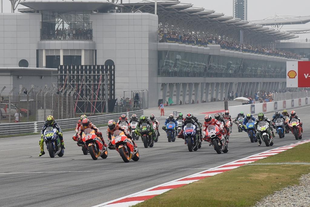 La partenza del GP della Malesia, controverso per Rossi e Marquez