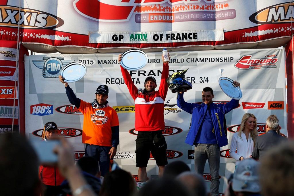 Il podio della E2 nel Mondiale Enduro