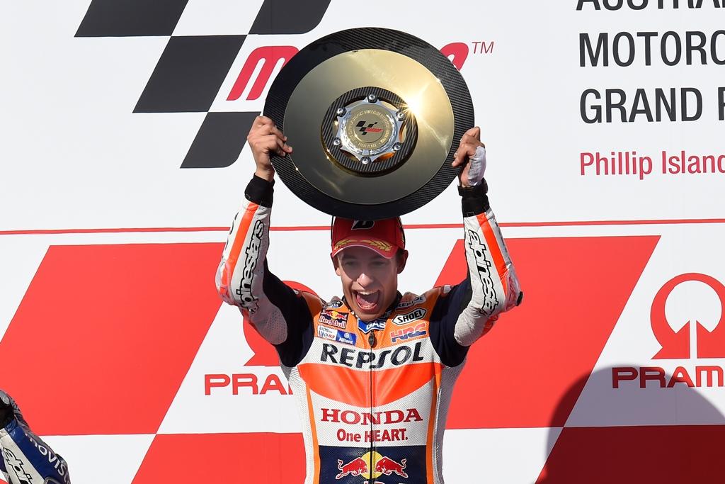 MotoGP 2015, GP Australia, Marc Marquez festeggia