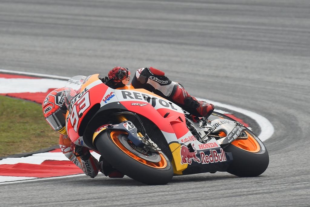 Marc Marquez protetto da HRC cercherà di portare la sua Honda sul podio spagnolo