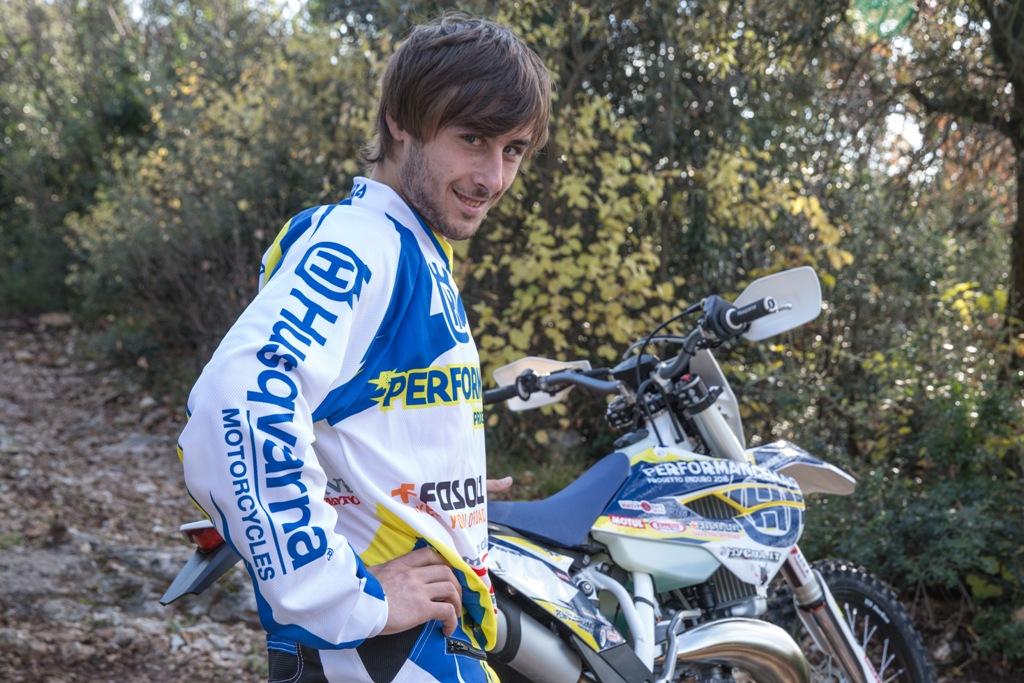 Andrea Giubettini manca poco alla gara e sarà il dedutto del Progetto Enduro 2016