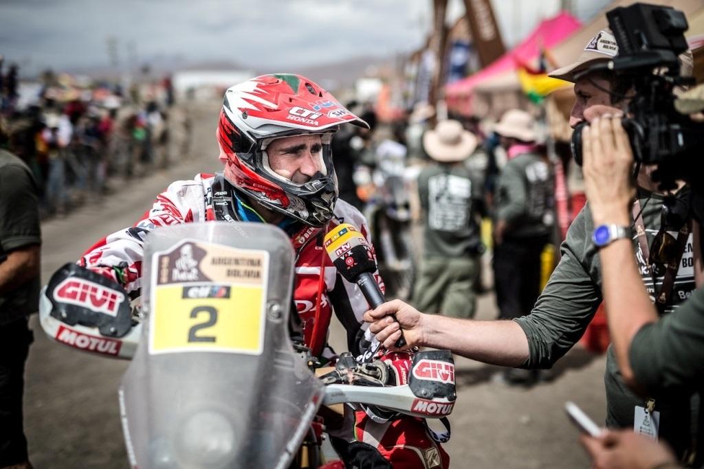 Dakar 2016 Goncalves attiualmente il più in alto dei rider Honda HRC