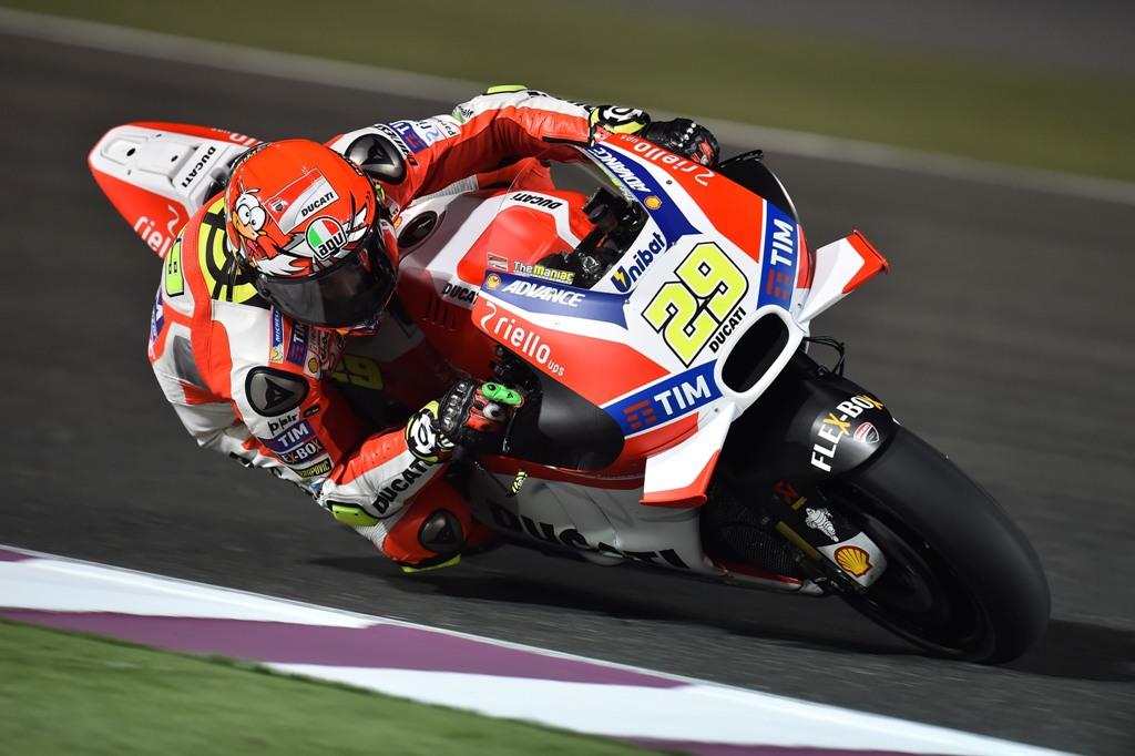 MotoGP 2016, Michelin test Qatar Andrea Iannone
