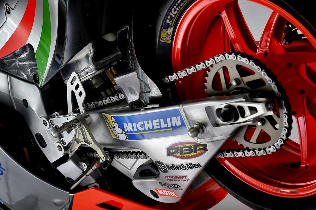 RS-GP 2016, MotoGP, particolare del forcellone