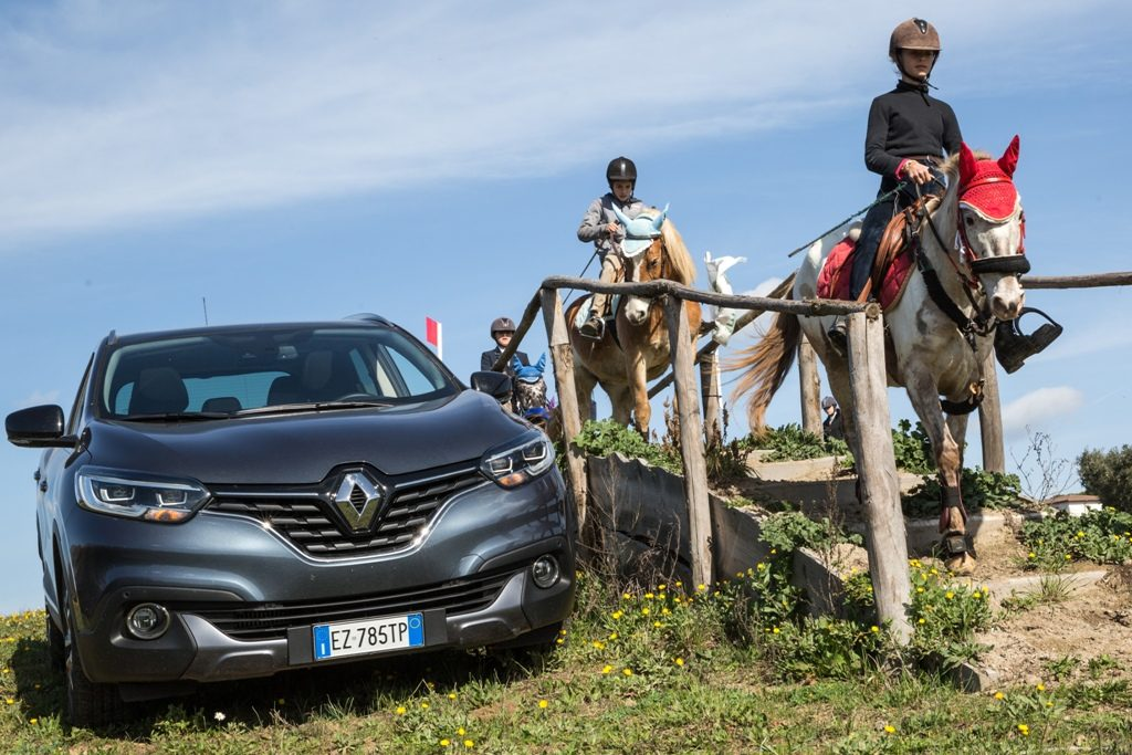 Kadjar e cavalli per questa prova presso il Centro Veio Trec