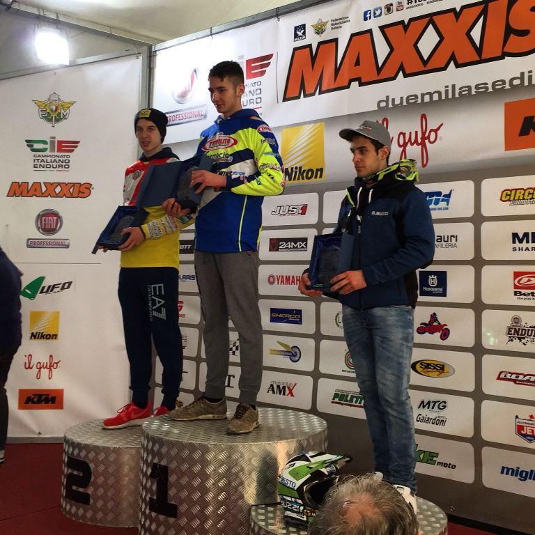 Il podio della Cadetti con Silvi ptimo ed ora leader di classifica