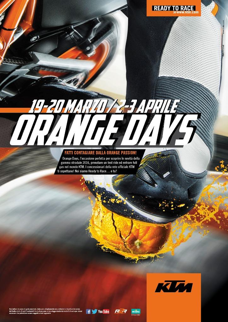 La locandina degli Orange Days KTM