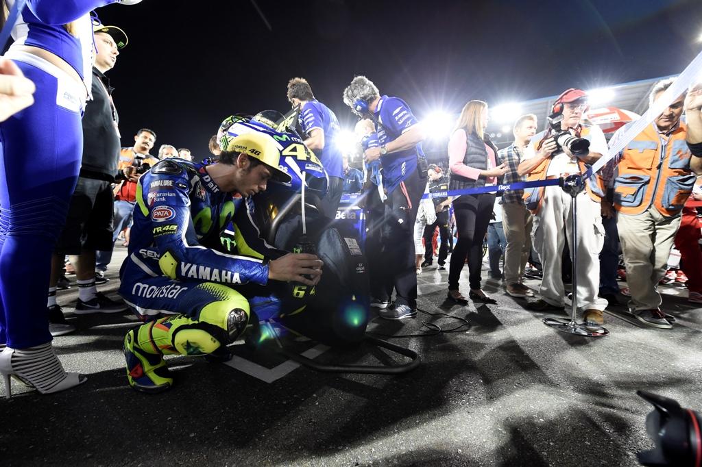 MotoGP 2016, Valentino Rossi sulla griglia di partenza