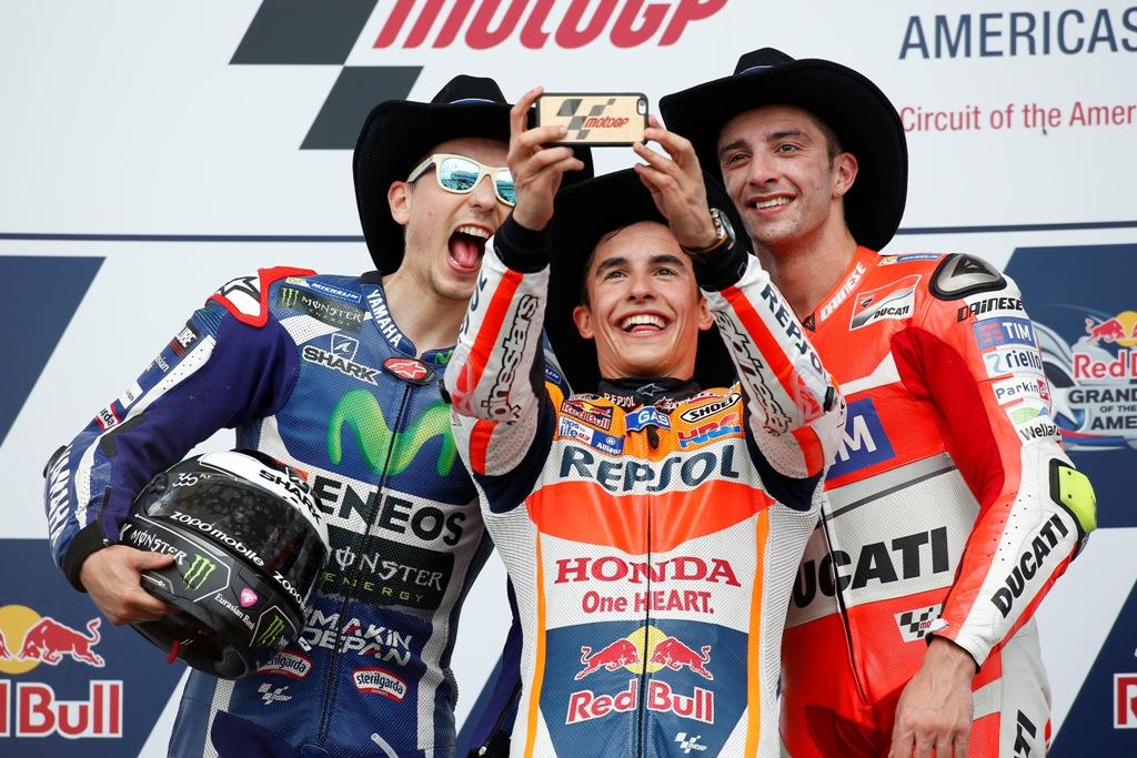 MotoGP. podio Texas 2016
