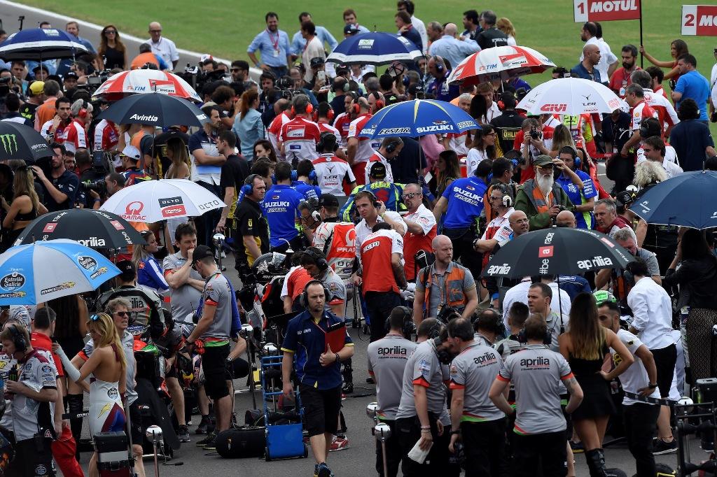 MotoGP 2016, Argentina, prima del via...
