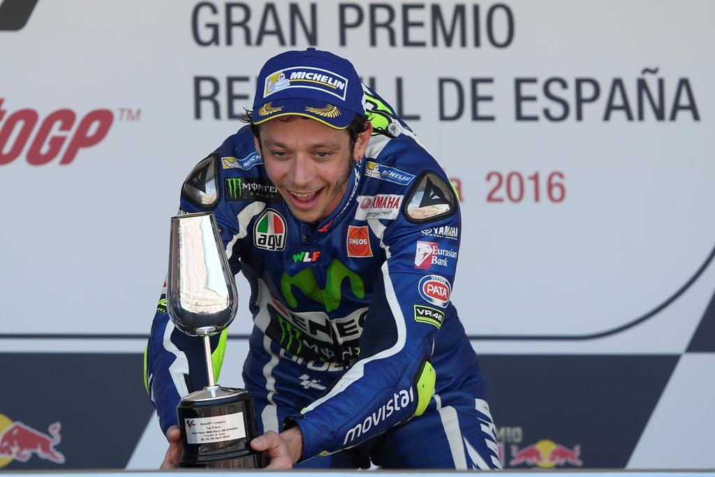 MotoGP 2016, Rossi sul podio spagnolo, vittoria numero 113
