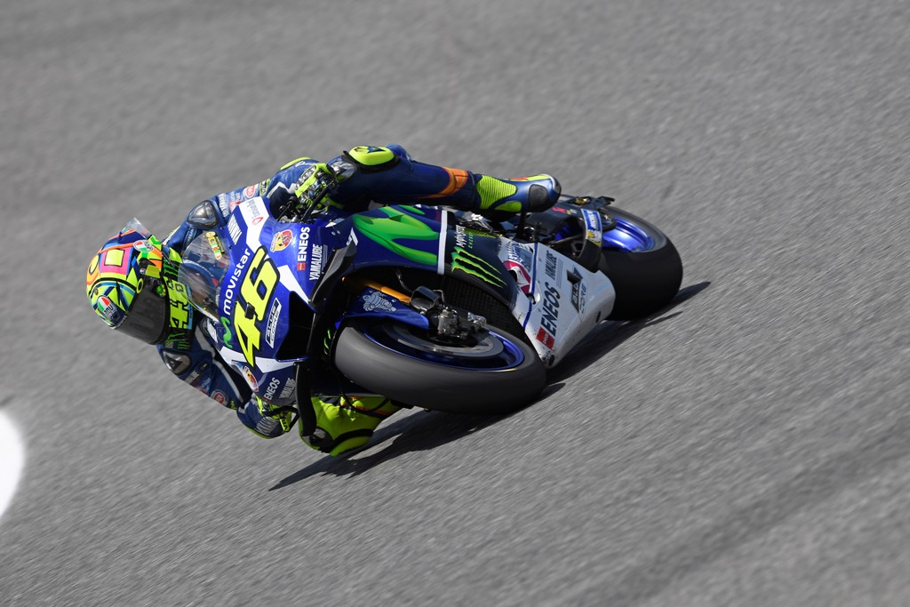 Valentino Rossi nei test di oggi a Jerez