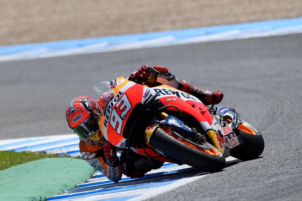 Marc Marquez terzo a Jerez con la sua Honda un po' arretrata