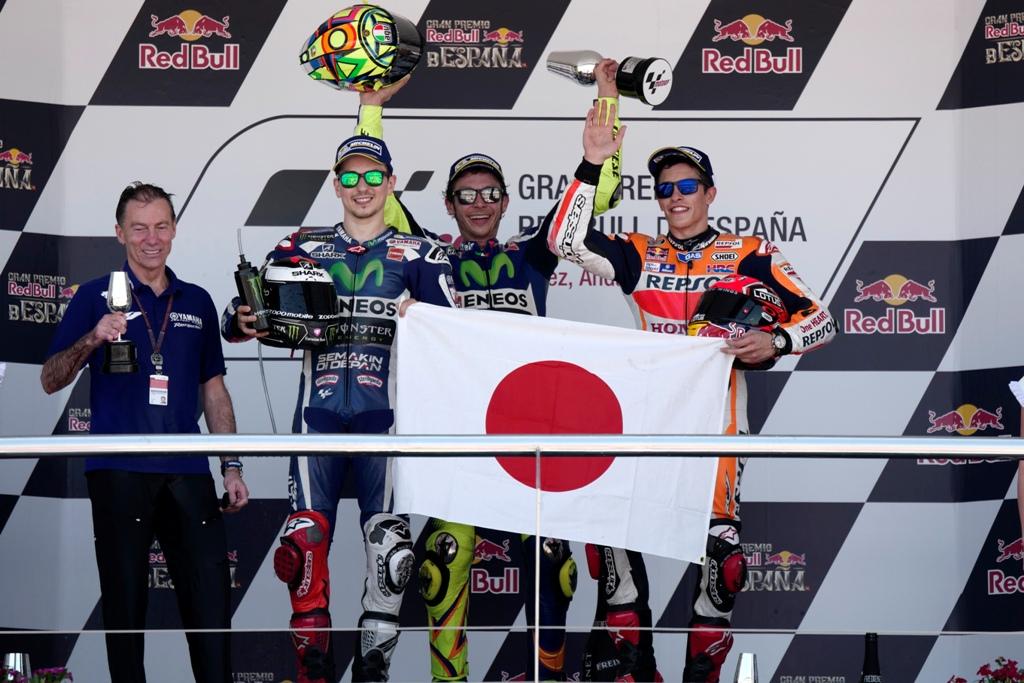 MotoGP 2016, il podio di Jerez