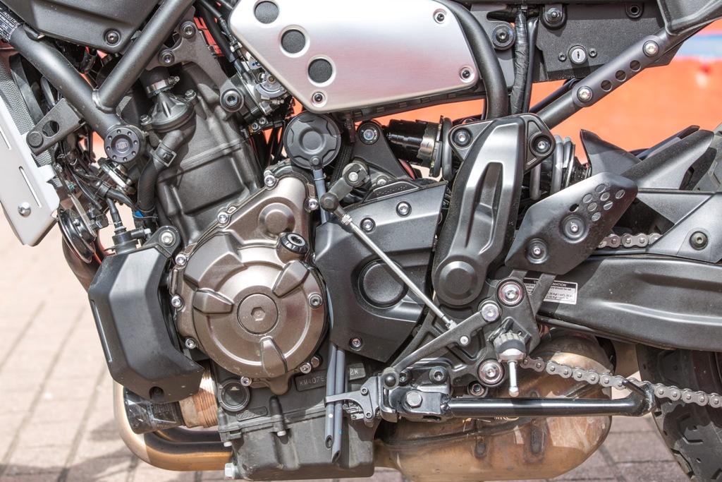 Il motore è incastrato nel telaio con struttura a diamante