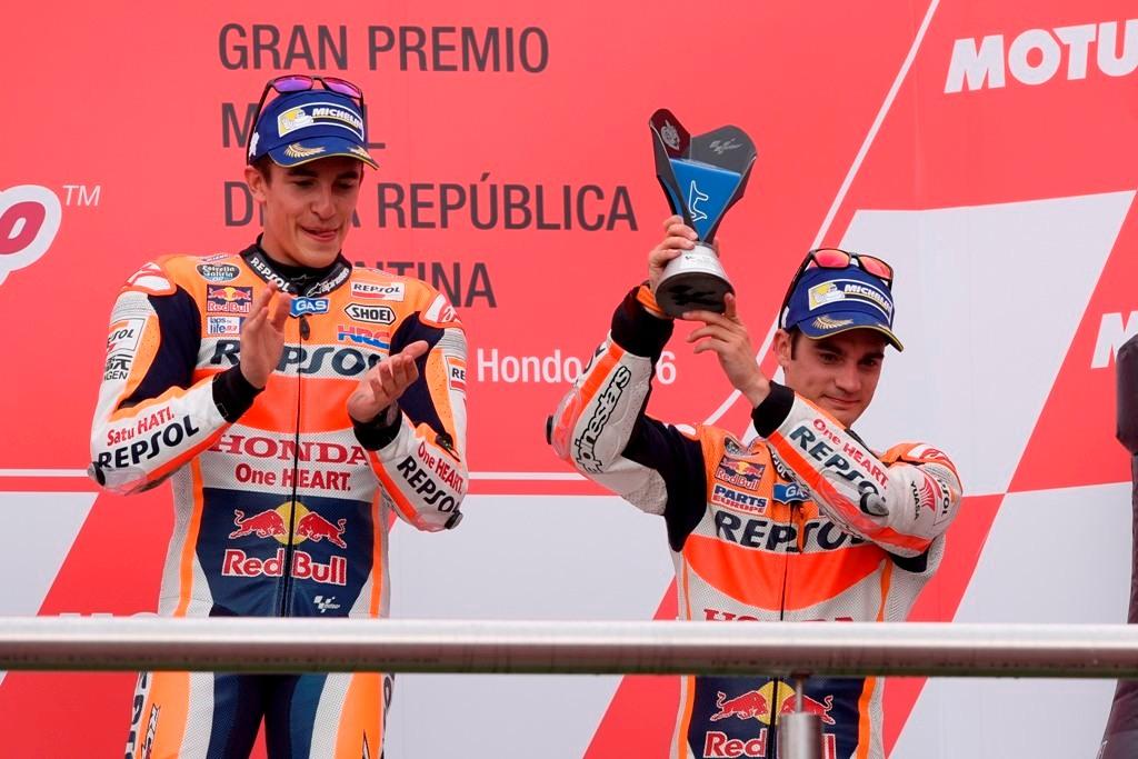 MotoGP 2016, Marquez e Pedrosa sul podio argentino