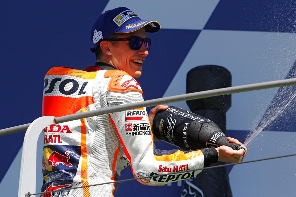 Marquez sul podio italiano